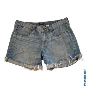 J. Crew Factory Stretch Denim Cut Off Shorts